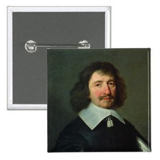 Portrait of Vincent Voiture  c.1643-44 2 Inch Square Button
