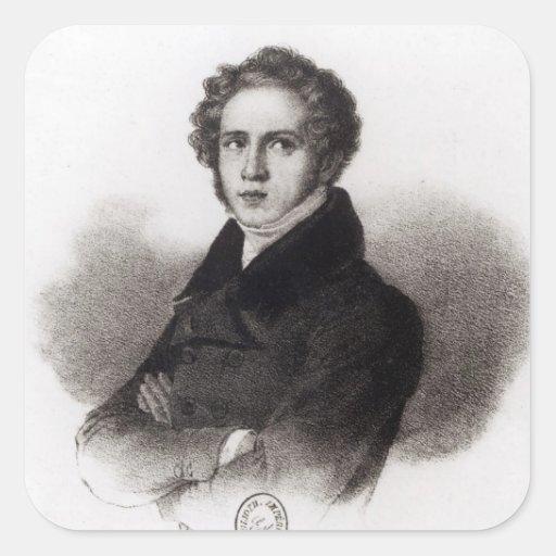 Portrait of Vincenzo Bellini Stickers
