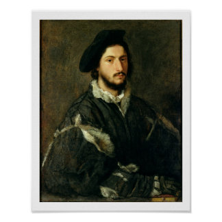 Portrait of Vincenzo Mosti (oil on canvas) Poster