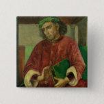 Portrait of Virgil , c.1475 2 Inch Square Button