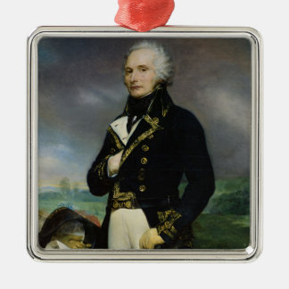 Portrait of Viscount Alexandre-Francois-Marie Silver-Colored Square Ornament