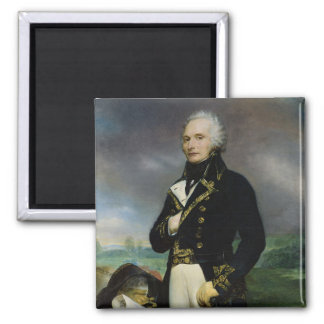 Portrait of Viscount Alexandre-Francois-Marie Square Magnet