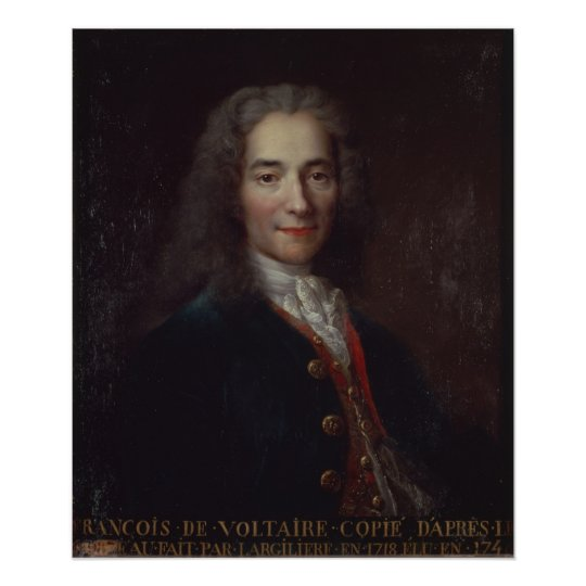 Portrait of Voltaire Poster