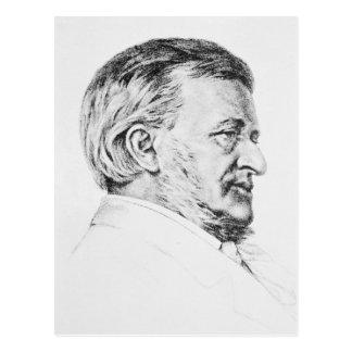 Portrait of Wagner, 19th century Postcard