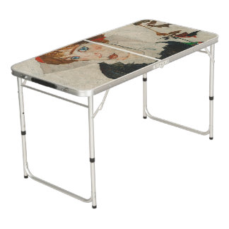Portrait of Wally by Egon Schiele Beer Pong Table
