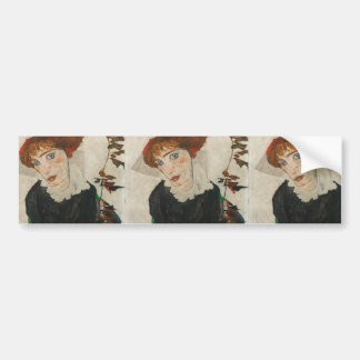Portrait of Wally by Egon Schiele Bumper Sticker