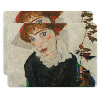 Portrait of Wally by Egon Schiele Card