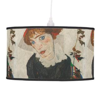 Portrait of Wally by Egon Schiele Pendant Lamp