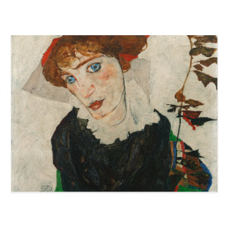 Portrait of Wally by Egon Schiele Postcard