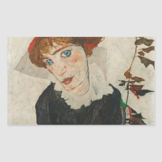 Portrait of Wally by Egon Schiele Sticker
