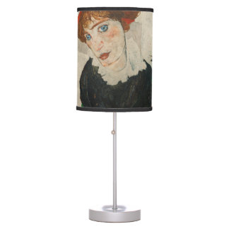 Portrait of Wally by Egon Schiele Table Lamp