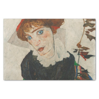 Portrait of Wally by Egon Schiele Tissue Paper