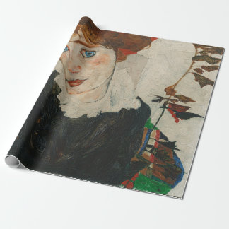 Portrait of Wally by Egon Schiele Wrapping Paper