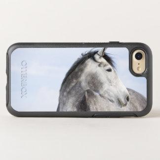 portrait of white horse 2 OtterBox symmetry iPhone 7 case