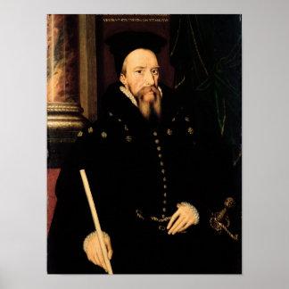 Portrait of William Cecil Poster