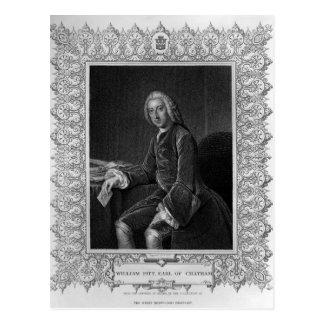 Portrait of William Pitt, 1st Earl of Chatham Postcard