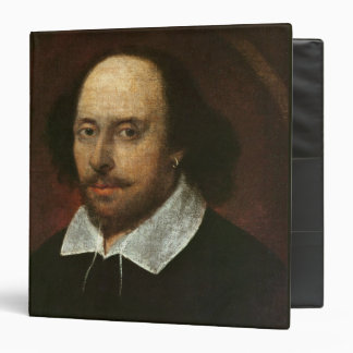 Portrait of William Shakespeare  c.1610 3 Ring Binder