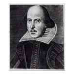 Portrait of William Shakespeare Posters