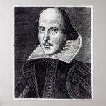 Portrait of William Shakespeare Posters