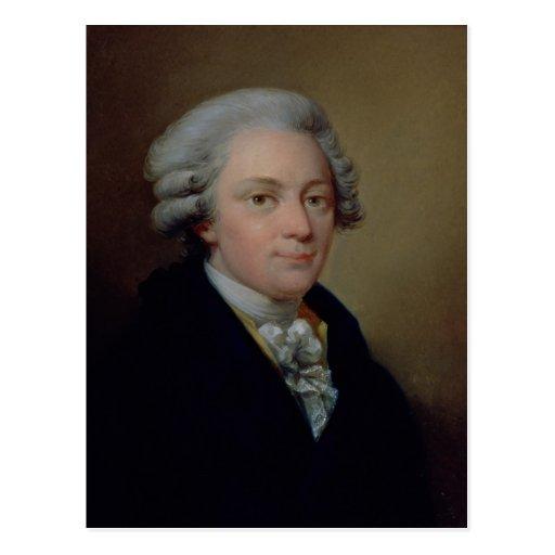 Portrait of Wolfgang Amadeus Mozart Postcards