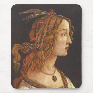 Portrait of young Simonetta Vespucci Mouse Pad