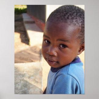 Portrait of young Ugandan girl Poster