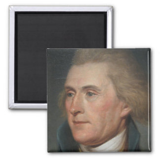 Portrait Painting of Thomas Jefferson Square Magnet