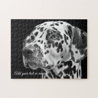Portrait photograph of a cute dalmatian dog: jigsaw puzzle