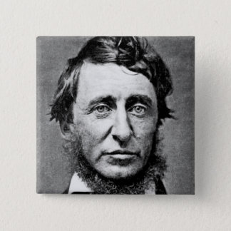 Portrait Photograph of Henry David Thoreau 2 Inch Square Button