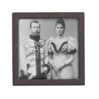 Portrait photograph of Tsar Nicholas II (1868-1918 Premium Trinket Box