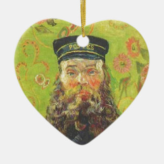 Portrait Postman Joseph Roulin - Vincent van Gogh Ceramic Heart Ornament