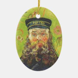 Portrait Postman Joseph Roulin - Vincent van Gogh Ceramic Oval Ornament