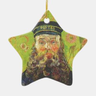 Portrait Postman Joseph Roulin - Vincent van Gogh Ceramic Star Ornament