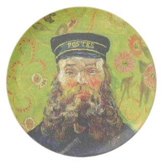 Portrait Postman Joseph Roulin - Vincent van Gogh Plate