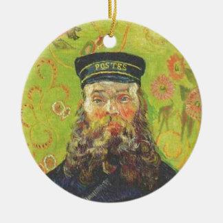 Portrait Postman Joseph Roulin - Vincent van Gogh Round Ceramic Ornament