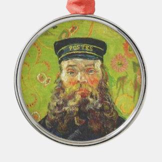 Portrait Postman Joseph Roulin - Vincent van Gogh Silver-Colored Round Ornament
