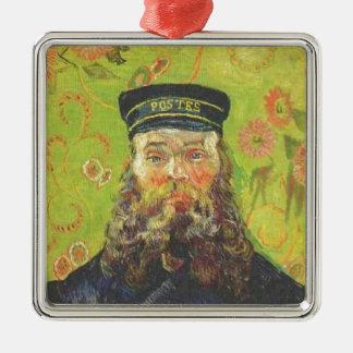 Portrait Postman Joseph Roulin - Vincent van Gogh Silver-Colored Square Ornament