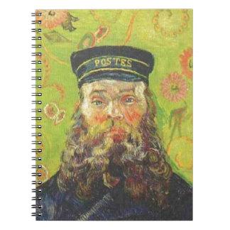 Portrait Postman Joseph Roulin - Vincent van Gogh Spiral Notebook