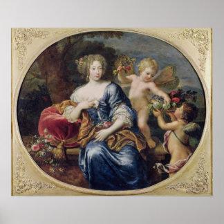 Portrait presumed to be Francoise-Athenais Poster
