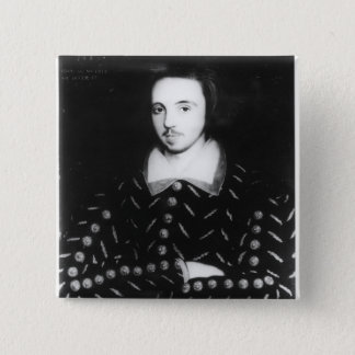 Portrait said to be Christopher Marlowe 2 Inch Square Button