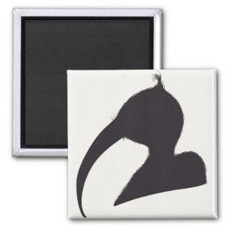 portrait silhouette magnet