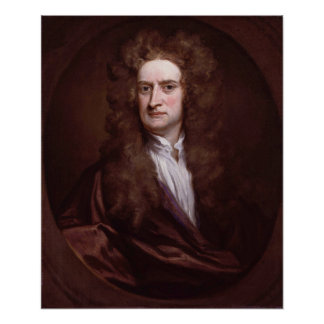 Portrait Sir Isaac Newton by Sir Godfrey Kneller Poster