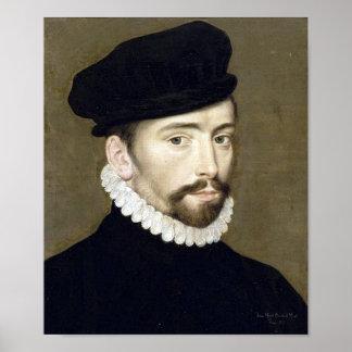 Portrait Villeroy renaissance Affiche