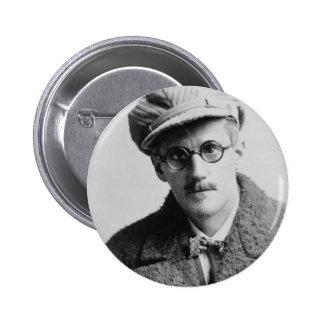 Portrait vintage de James Joyce Macaron Rond 5 Cm