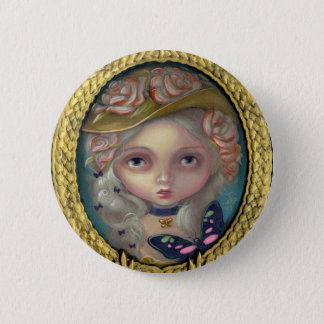 """""""Portrait with a Flowered Hat"""" Button"""