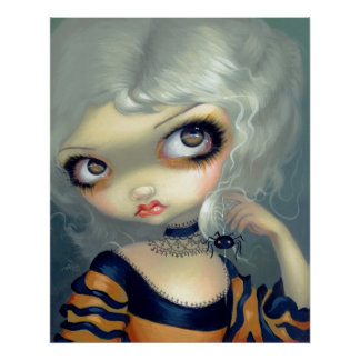 Portrait with a Spiderling ART PRINT gothic rococo