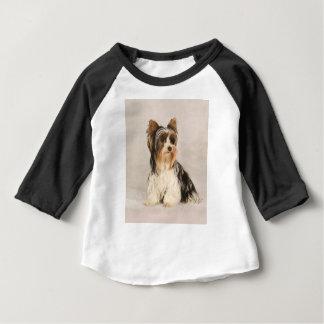 Portrait Yorkie Miss Mia Photo painting Baby T-Shirt