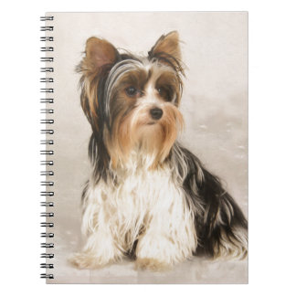 Portrait Yorkie Miss Mia Photo painting Notebook