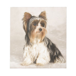 Portrait Yorkie Miss Mia Photo painting Notepad