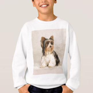 Portrait Yorkie Miss Mia Photo painting Sweatshirt